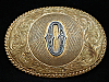 OH05144 VINTAGE 1970s INITIAL**O** WESTERN & COWBOY CRUMRINE BELT BUCKLE