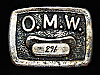 OJ03166 HANDMADE VINTAGE 1970s **O.M.W. 291** UNKNOWN MISCELLANEOUS BELT BUCKLE