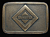PA05150 VINTAGE 1970s **BANISTER** UNKNOWN COMPANY BRASSTONE BELT BUCKLE