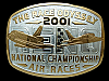 PA15158 *NOS* 2001 **THE RACE ODYSSEY 2001 RENO AIR RACES** SPORTS BELT BUCKLE