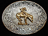 PC05174 VINTAGE 1970s **END OF THE TRAIL** INDIAN ARTWORK CRUMRINE BELT BUCKLE