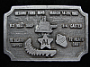 PD17157 VINTAGE 1982 **RECORD TONS 8048** PEWTER HITLINE USA BELT BUCKLE