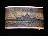 PC01169 VINTAGE 1970s KENNETH REID **MOUNTAIN SCENE** INLAID ARTWORK BUCKLE