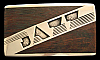 PF10132 COOL VINTAGE 1970s KENNETH REID **JAZZ** INLAID WOOD ARTWORK BUCKLE