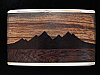 PF09169 VINTAGE 1970s KENNETH REID **MOUNTAIN SCENE** INLAID ARTWORK BUCKLE