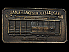 IC31170 GREAT VINTAGE 1976 ***SAN FRANCISCO CABLE CAR*** BRASSTONE BUCKLE