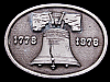 IC13124 VINTAGE 1975 OVAL-SHAPED **LIBERTY BELL** BICENTENNIAL PEWTER BUCKLE