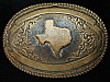 PF23167 VINTAGE 1970s **TEXAS** STATE COMMEMORATIVE CRUMRINE WESTERN BELT BUCKLE