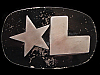 PG05175 VINTAGE 1970s **STAR L** UNKNOWN MISCELLANEOUS BELT BUCKLE