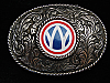 PG19170 VINTAGE 1970s **UNKNOWN COMPANY OR ORGANIZATION LOGO** BELT BUCKLE
