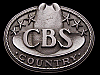 JI23167 **NOS** VINTAGE 1970s ***CBS RECORDS*** COUNTRY MUSIC BELT BUCKLE