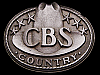 JI21153 GREAT VINTAGE 1970s ***CBS RECORDS*** COUNTRY MUSIC BUCKLE