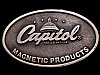 JI23166 COOL 1970s VINTAGE **CAPITOL MAGNETIC PRODUCTS** RECORDING TAPE BUCKLE