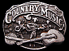 JI17152 VINTAGE 1989 ***COUNTRY MUSIC*** (BANJO & GUITAR) PEWTER BELT BUCKLE