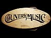 JI15163 GREAT VINTAGE 1970s **COUNTRY MUSIC** SOLID BRASS BUCKLE