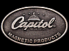 JI23165 VINTAGE 1970s **CAPITOL MAGNETIC PRODUCTS** MUSIC BELT BUCKLE
