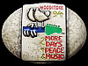 JI25175 1994 **WOODSTOCK 94** MUSIC FESTIVAL 2 MORE DAYS OF PEACE & MUSIC BUCKLE