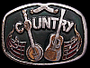 JI17146 GREAT VINTAGE 1976 ***COUNTRY MUSIC*** BANJO & GUITAR BUCKLE