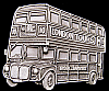 KB02165 *NOS* VINTAGE 1995 **LONDON TOURS - DOUBLE DECKER BUS** PEWTER BUCKLE