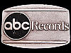 JI19168 REALLY NICE VINTAGE 1970s ***ABC RECORDS*** MUSIC BELT BUCKLE
