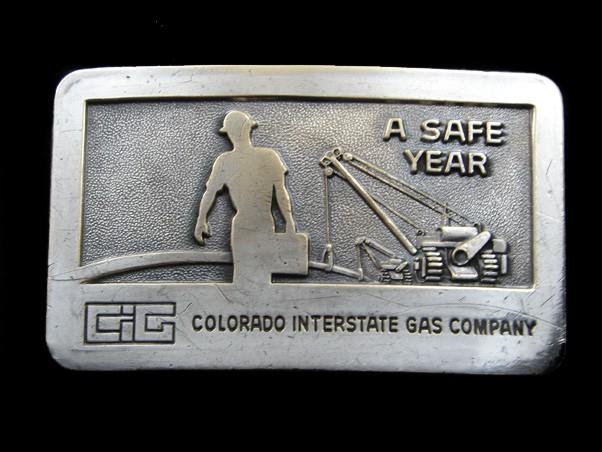 Aspirante Sb11153 Vintage Anni 1970 ** Colorado Interstate Gas Company ** Oilfield Fibbia