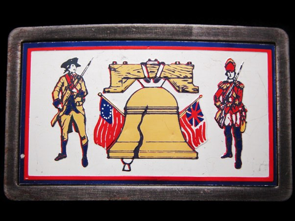 Vintage 1970s Symbols Of The Revolutionary War Buckle Vintageusa